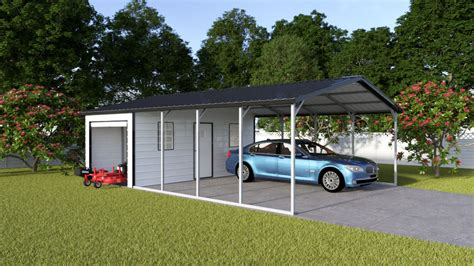 Carport With Storage Shed by Vertical Carport Storage Shed Combo Vertical Carport