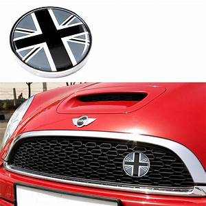 1 Set Front Grill Badge W   Holder Fit All Mini Cooper R50 R55 R56 R57