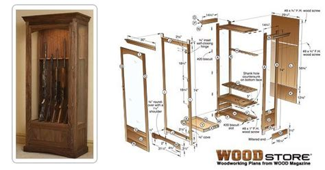 plans hidden gun cabinet  woodworking