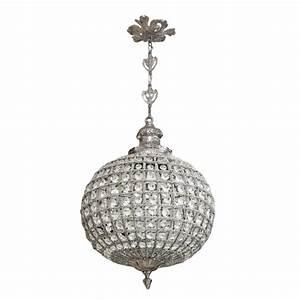 Luminaire Boule Verre : lustre boule pampilles verre transparente avec bronzes argent s ~ Teatrodelosmanantiales.com Idées de Décoration