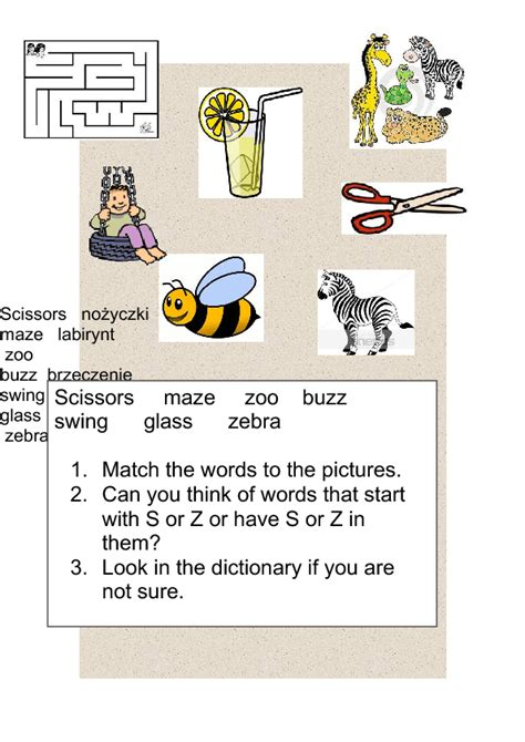 S And Z Sound Words