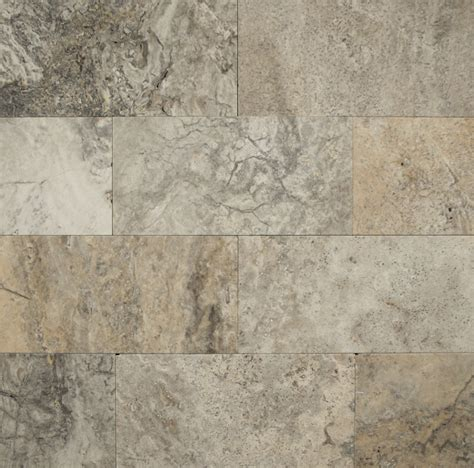 "Bedrosians Travertine Tile Silver Mist 12"" X 12"" Natural"