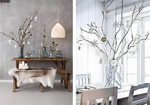 deco de noel avec des branches branchages idees style With idee deco cuisine avec deco murale nordique