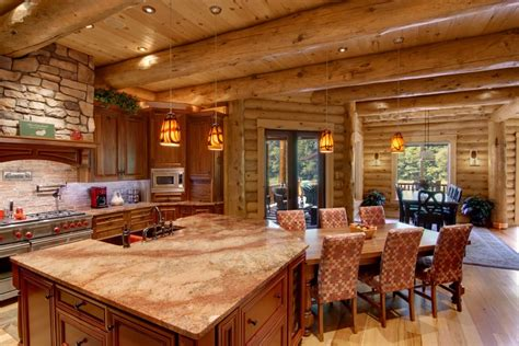 kitchens dining timberhaven log timber homes
