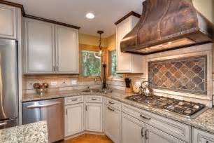 Traditional Backsplashes For Kitchens Looking Copper Range Hoods Mode Chicago Traditional Kitchen Innovative Designs With Beige