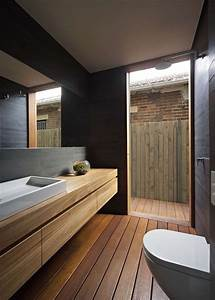 Sol Bois Salle De Bain : relooker une salle de bain 42 id es en photos ~ Premium-room.com Idées de Décoration