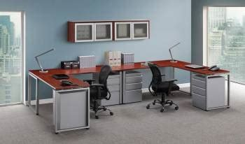 person office desk  drawers  overhead storage