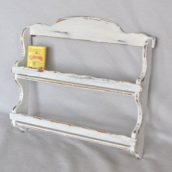 White Wood Spice Rack by Shabby Chic Vintage White Wooden Spice From Shabbychiclife On