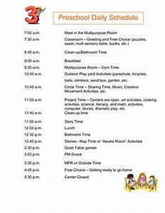 4 best images of free printable preschool daily schedule for Preschool daily schedule template