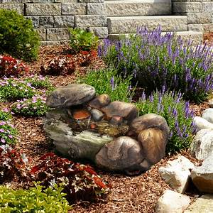 Outdoor, Water, Fountain, With, Stone, Waterfall, Natural, Looking, Rock, And, Soothing, Sound, For, Decor