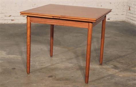 danish modern teak square expanding dining table  stdibs