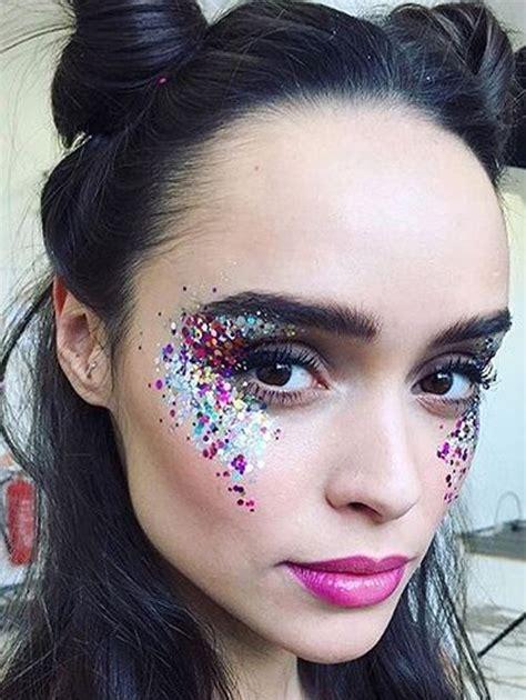 glitzer make up fasching glitzermakeup makeup glitzer make up karneval schminken und glitter make up