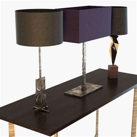Porta Romana Furniture by Porta Romana Ls And Tables Set 3d Model Max Obj 3ds Fbx