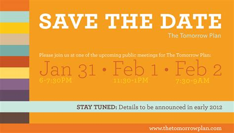 Meeting Save The Date Templates by Save The Date The Tomorrow Plan