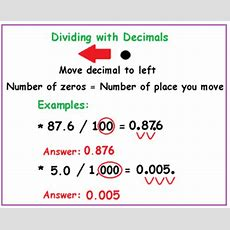 Multiplying & Dividing Decimals With Mental Math Lesson For Kids Studycom