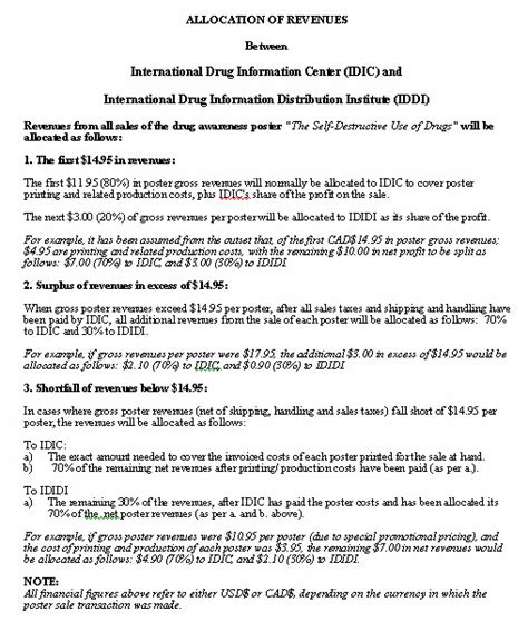 Revenue Contract Template by Revenue Agreement Sle Format For A Typical