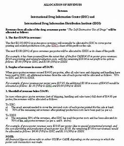 revenue sharing agreement sample format for a typical With revenue sharing contract template