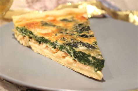 cuisiner saumon frais tarte au saumon fumé et épinards frais pour ceux qui