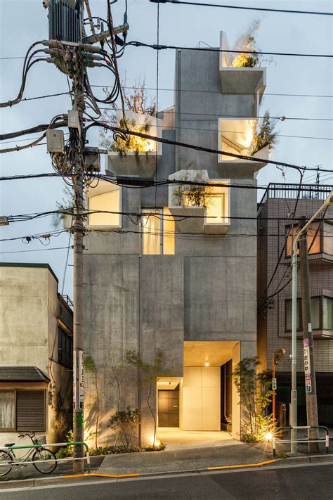 Tree Ness House In Tokio by A Tangled Residential Complex Akihisa Hirata S Tree Ness