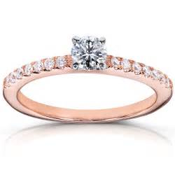 solitaire engagement rings with band 14k gold engagement ring engagement rings review