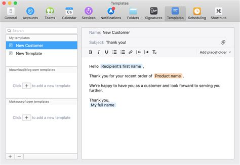 create   spark email templates  mac  iphone