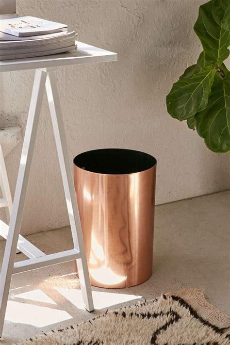 Copper Bathroom Trash Can