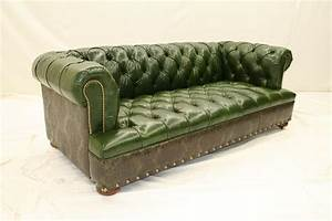 high end furnishings green leather tufted sofa With green tufted sectional sofa