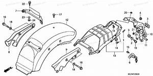 Honda Motorcycle 2005 Oem Parts Diagram For Rear Fender