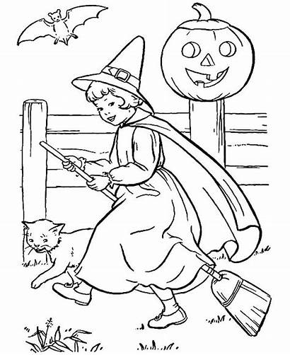 Witch Coloring Pages Scarlet Halloween Pretty Witches