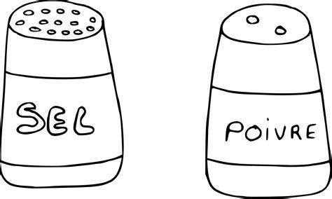 jeux info fille cuisine coloriage sel et poivre à imprimer