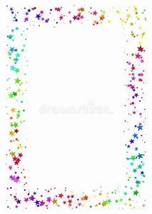 Bilder Mit Weißem Rahmen : abstrakter rahmen gemacht von den bunten sternen auf wei em hintergrund papier a4 mit regenbogen ~ Indierocktalk.com Haus und Dekorationen