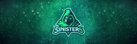 sinister team logo design