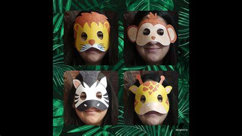 Mascaras de Animales de la Selva YouTube