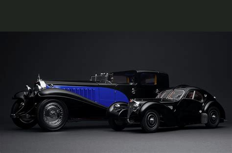 A Nice Size Comparison Between The Bugatti Royale And The
