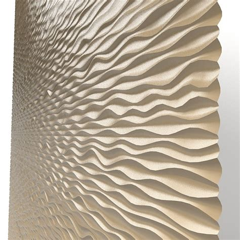 panel decorative  wave mdf modern laser perforated wall
