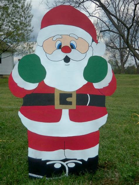 santa wooden yard art decoration