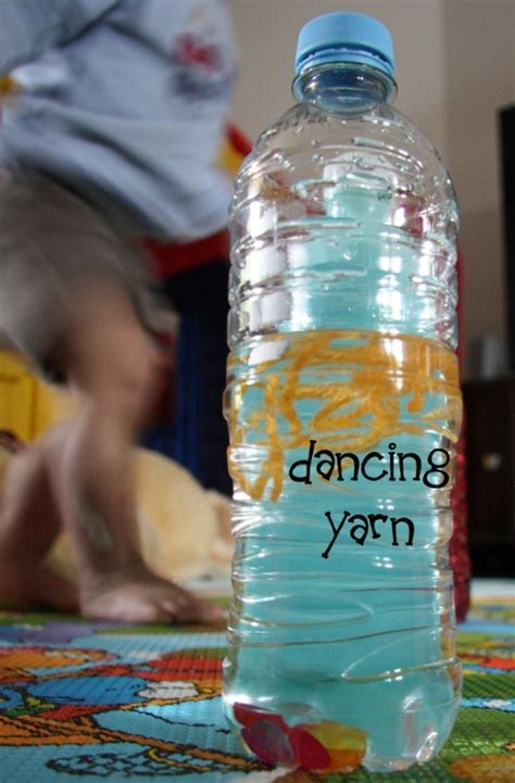 diy bubbles amp yarn discovery bottles 708 | DIY Discovery Bottle Dancing Yarn1
