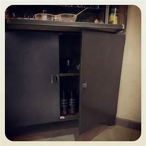 Meuble Bois Et Acier : meuble industriel sur mesure pour magasin acier brut et bois vieilli ~ Teatrodelosmanantiales.com Idées de Décoration