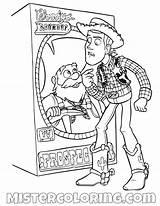 Coloring Pages Woody Toy Story Pete Sheriff Stinky Attic Aliens Mad sketch template