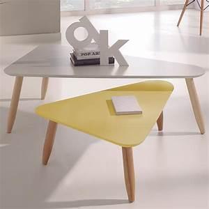 Table Scandinave But : table de salon gigogne blanc et jaune sofamobili ~ Teatrodelosmanantiales.com Idées de Décoration