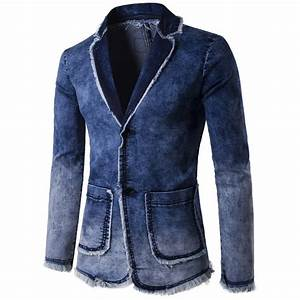 Denim Blazer Men 2017 Brand New Men Trend Jeans Suits Casual Water Washed Suit Jean Jacket Men ...