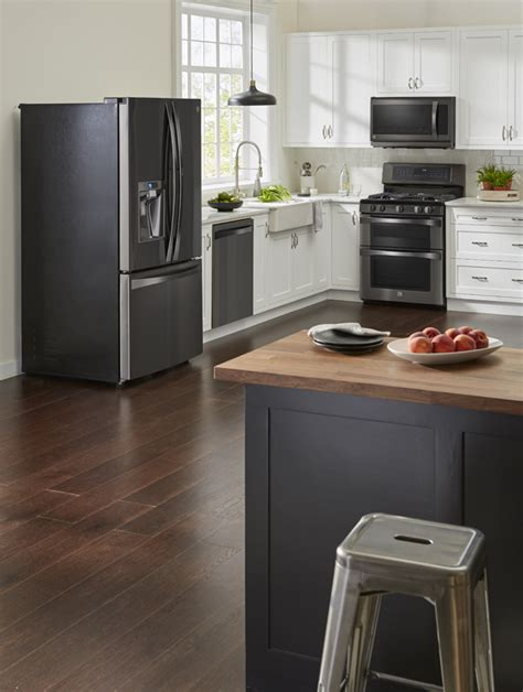 ways  introduce black stainless steel   kitchen livemore