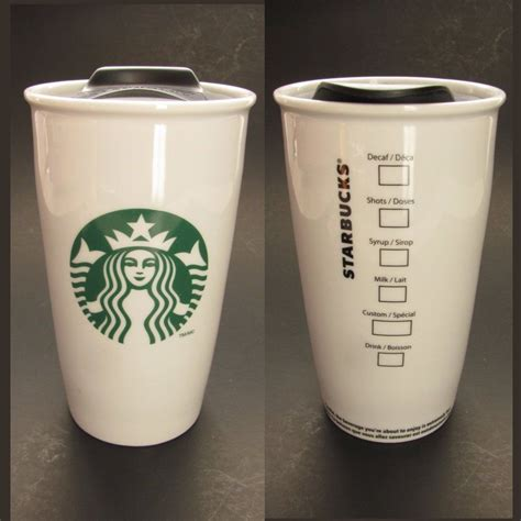 Double wall coffee mug double wall glass coffee cup tumbler with silicone lid insulated travel coffee mug for coffee tea hot cold drinks. Starbucks Double Wall Travel Mug Coffee Cup Siren Logo Tall Order w Lid Ceramic #Starbucks ...