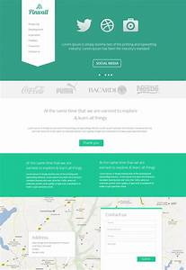 pinwall modern website template psd freebie no 103 With wesite templates