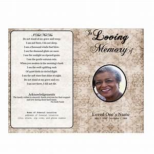 Bifold Funeral Program Template