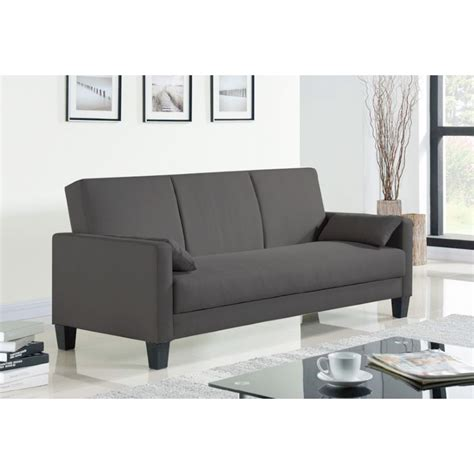 dark gray sofa bed modern 3 seater sofa bed futon in dark grey fabric buy
