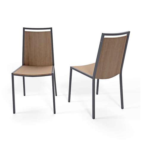 chaise pied en bois chaise de cuisine en métal et bois concept 4 pieds