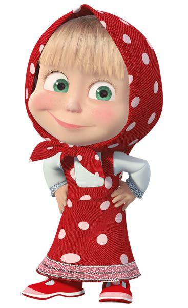 Masha with Red Dress Transparent PNG Clip Art Image ...