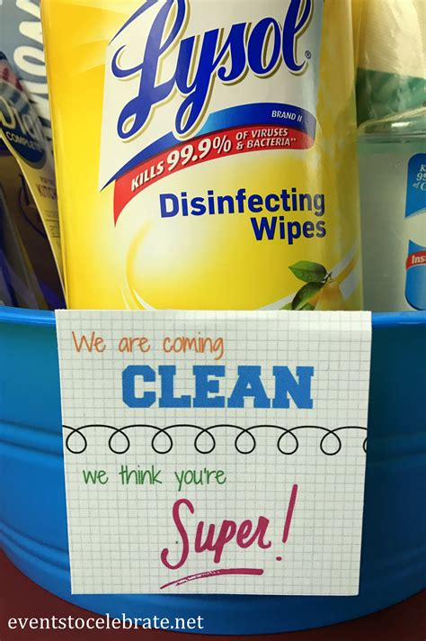 Teacher Appreciation Week Gift - Cleaning Supplies