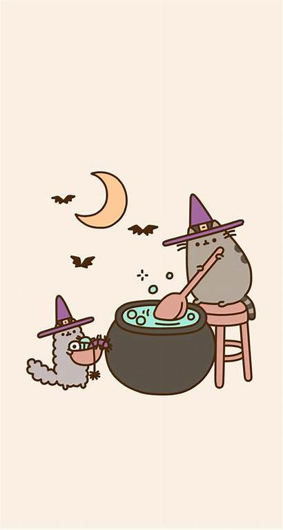 Halloween Iphone Fall Witch Backgrounds Pusheen Holiday